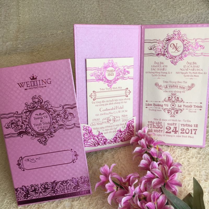 Wedding Invitations Book Type DQ-1823-Purple
