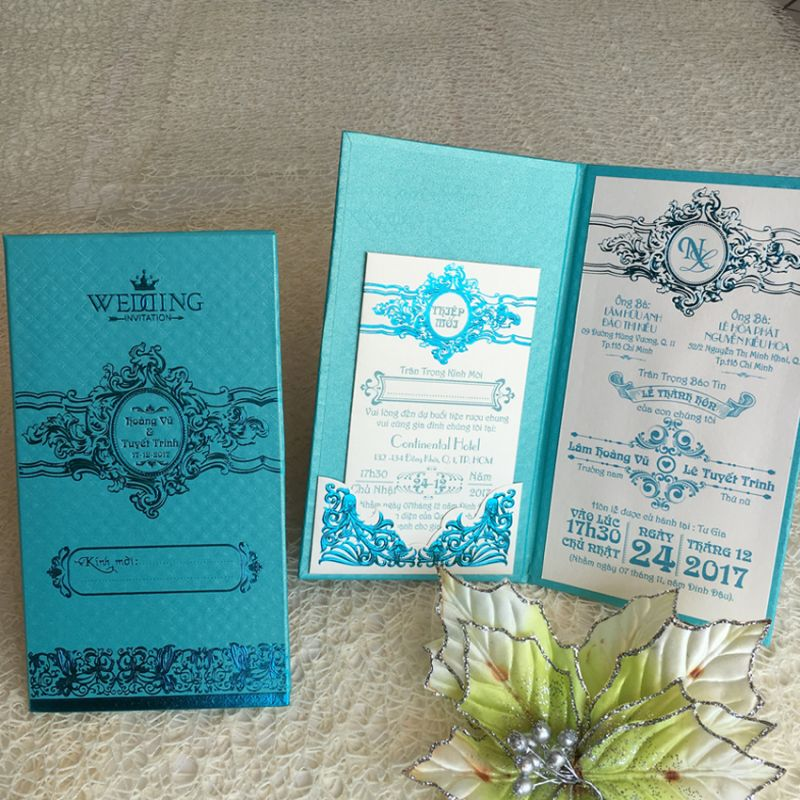 Wedding Invitations Book Type DQ-1823-Light Blue
