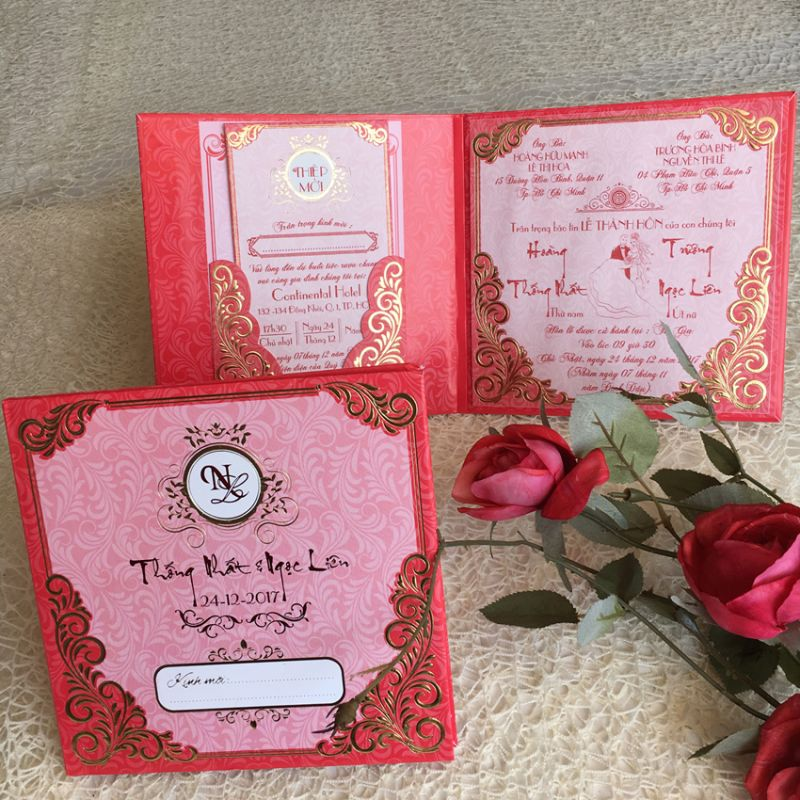 Wedding Invitations Book Type DQ-1824-Red