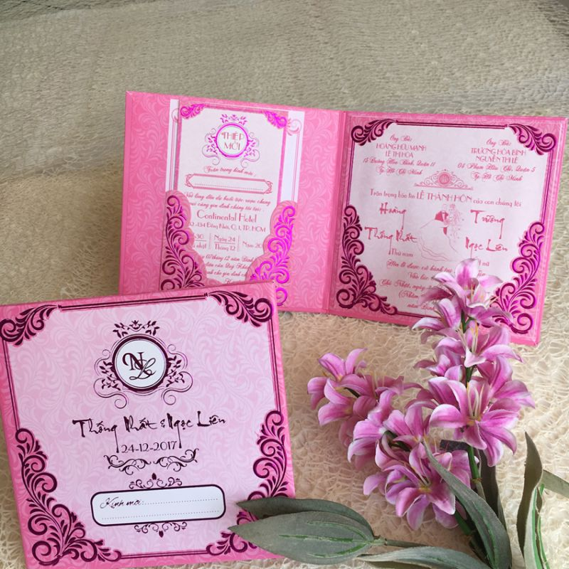 Wedding Invitations Book Type DQ-1824-Pink
